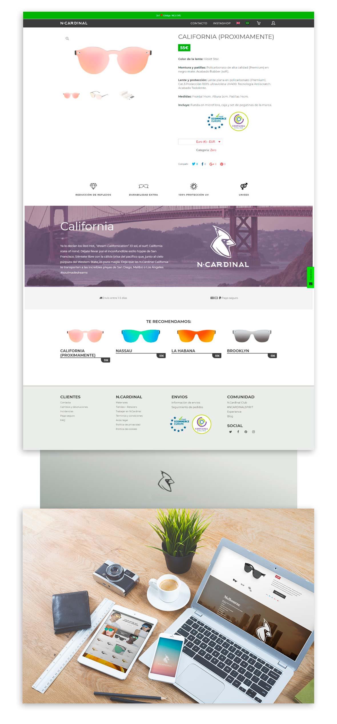 wireframe de diseño web e-commerce
