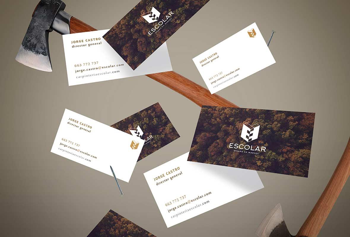 tarjetas de visita identidad corporativa