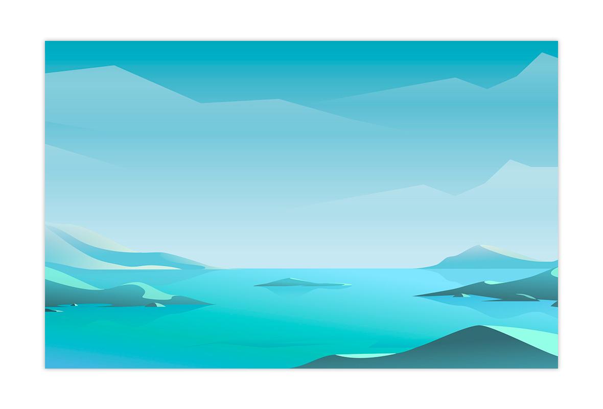ilustración paisaje animada