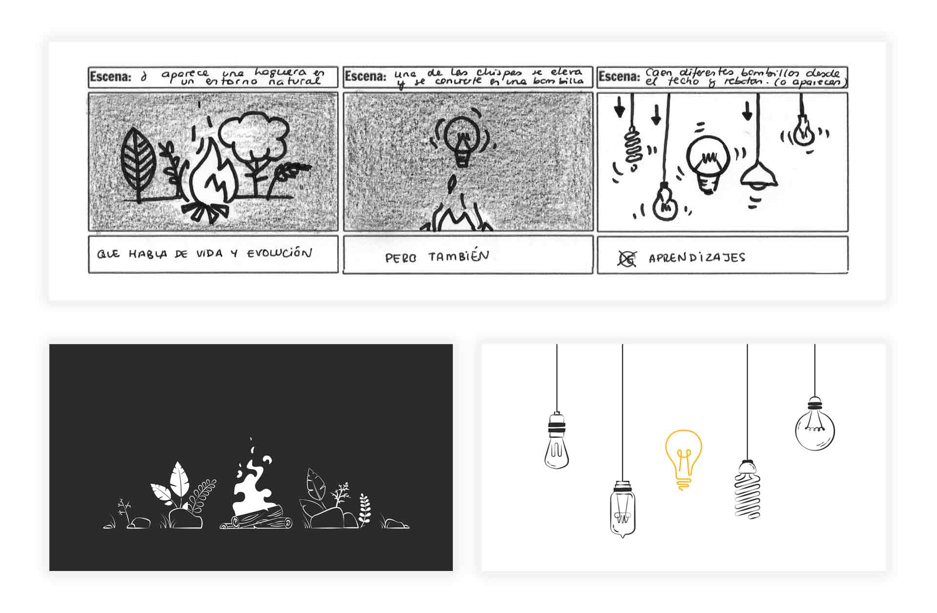 Animation video storyboard lledó