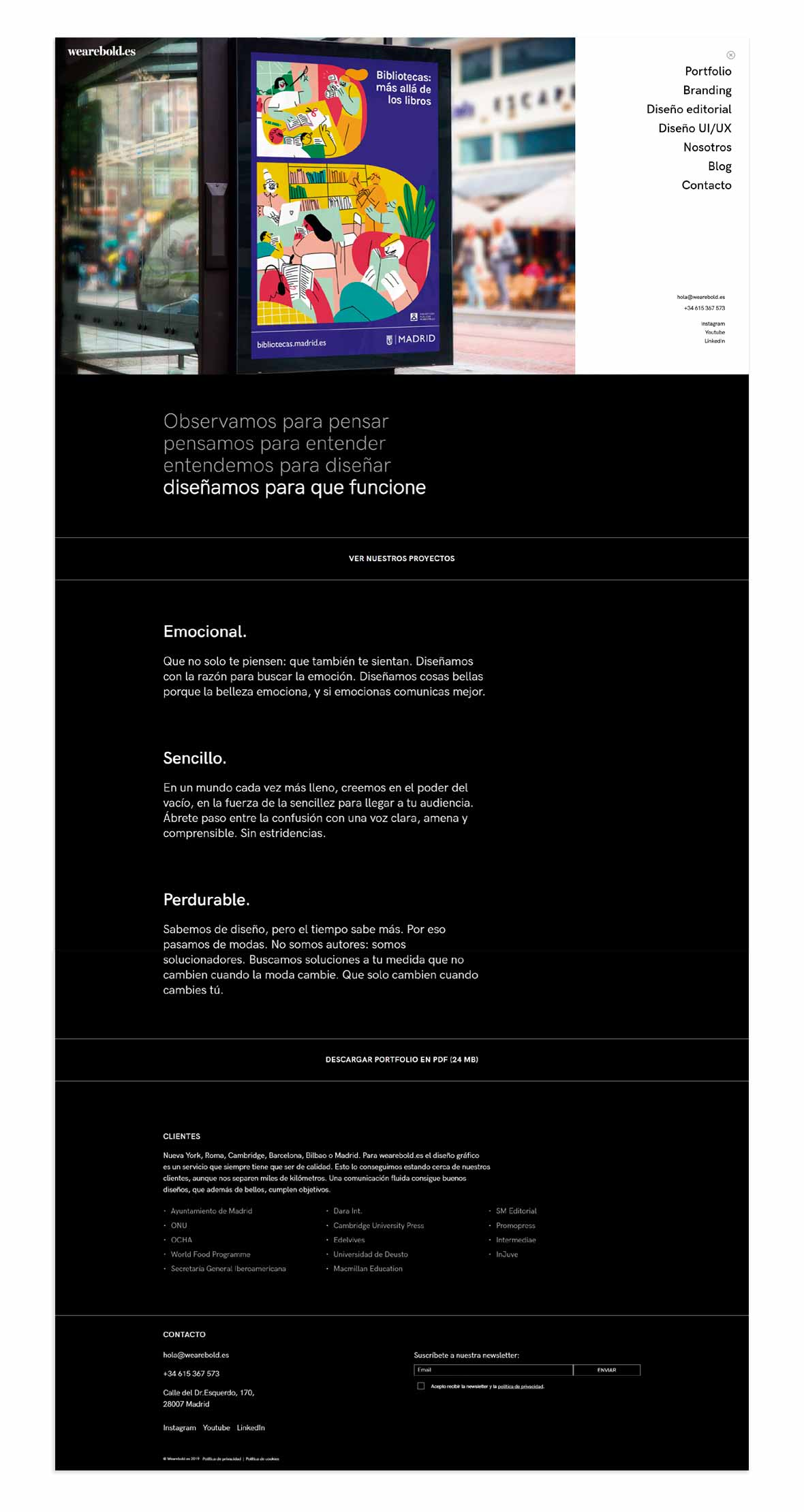 wireframe front page
